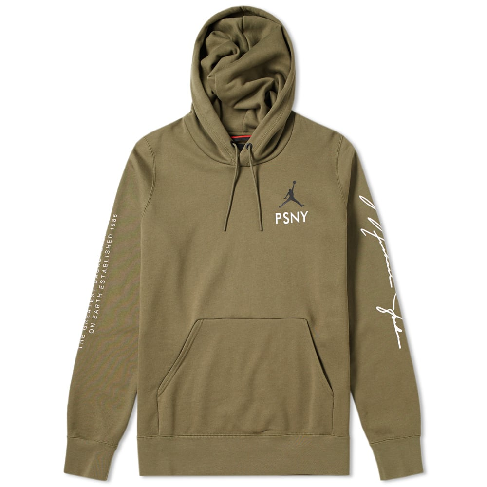 2adff5dbf12026 Nike Jordan x PSNY Pullover Hoody Medium Olive   Black