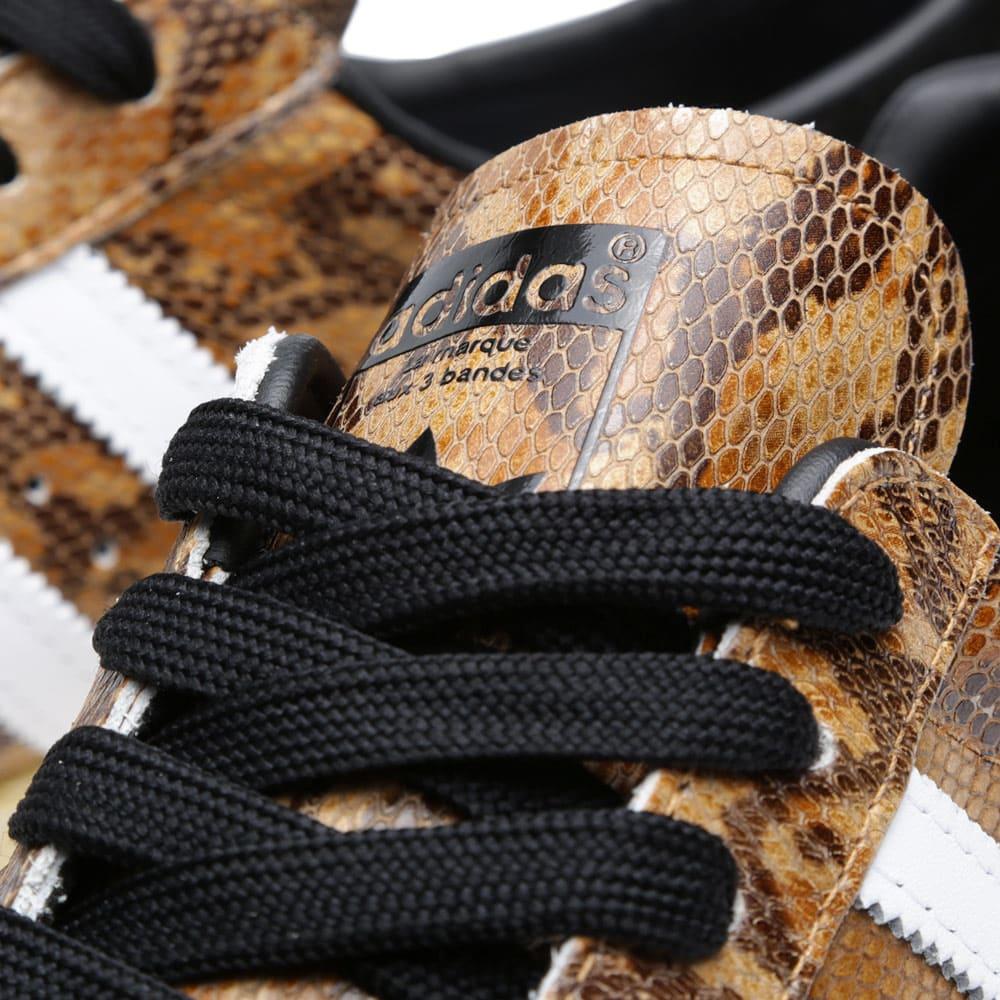 adidas Originals Footwear Superstar 80s Trainers Snakeskin Wheat Running White