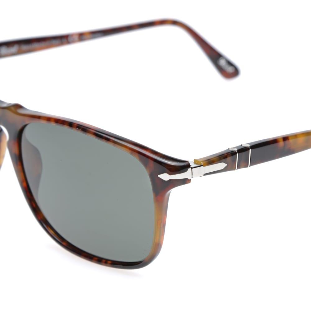 a59ed4c85de73 Persol 3059S Square Framed Polarised Aviator Sunglasses Havana