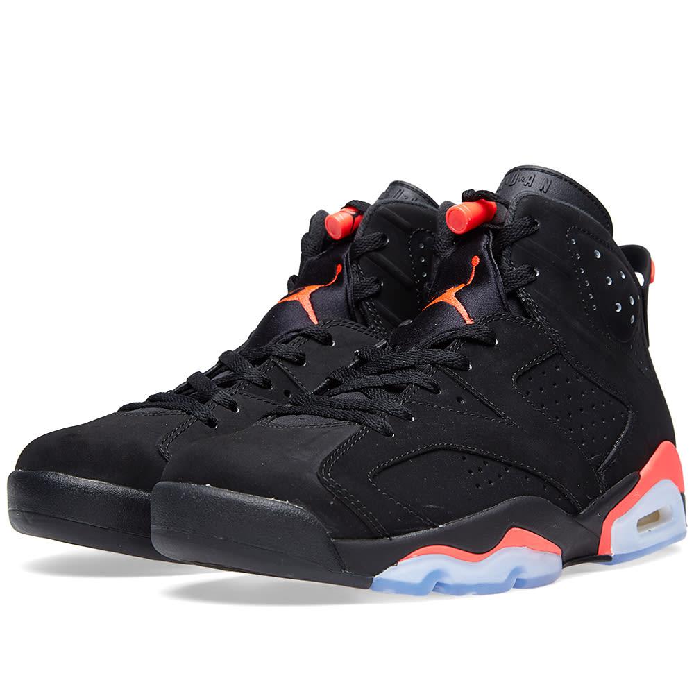 new style 889c2 e5cab Nike Air Jordan VI Retro  Black Infrared  Black   END.