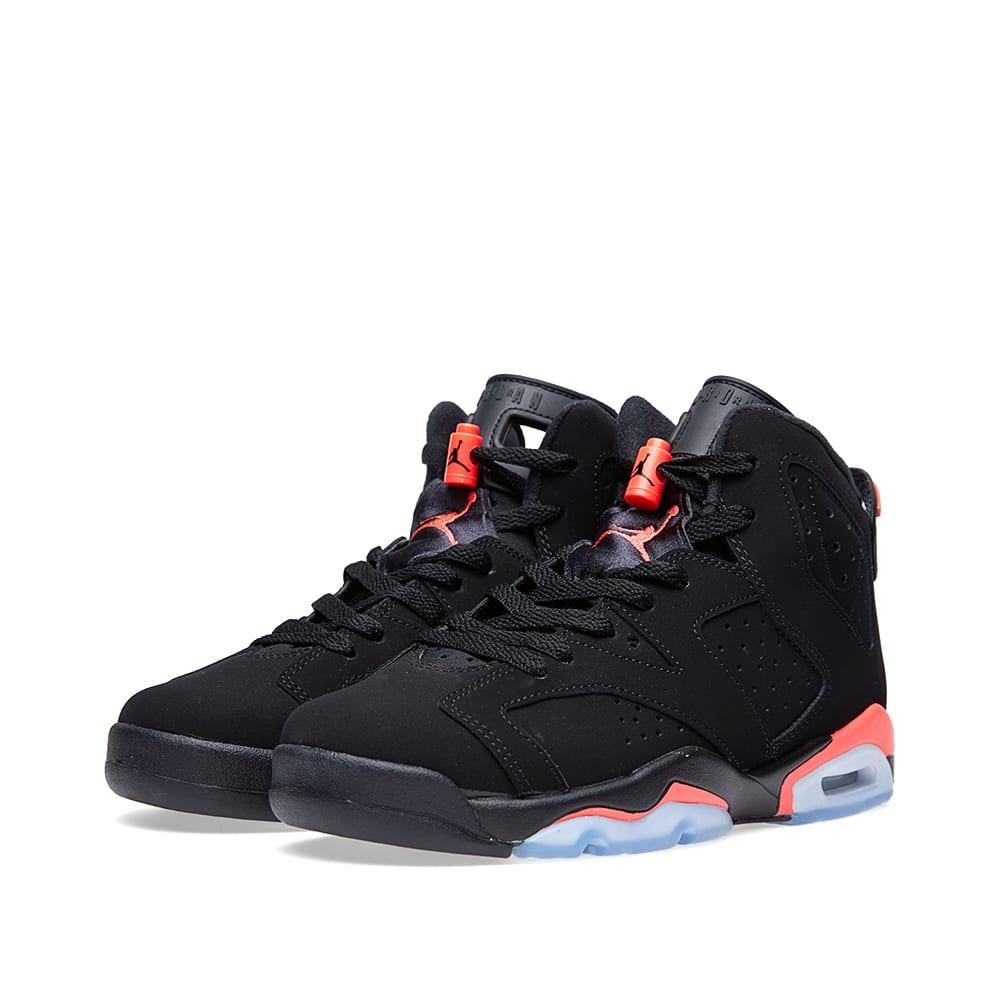 low priced 711fa 66004 Nike Air Jordan VI Retro BG  Black Infrared  Black   END.
