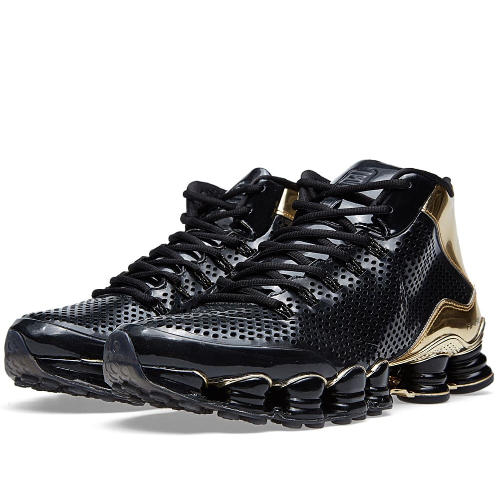 new style aec30 3c878 Nike Shox TLX Mid SP Black   Metallic Gold   END.