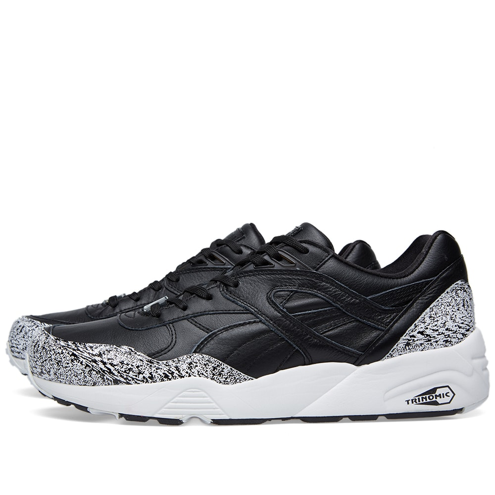 finest selection a0daa 55fb5 Puma Trinomic R698 Snow Splatter. Black   White