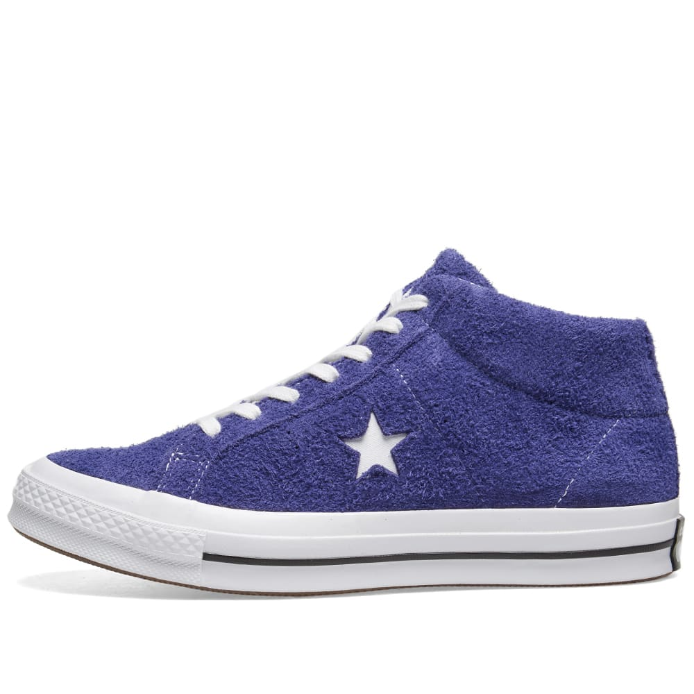 44367333601f Converse One Star Mid Vintage Suede New Orchid   White