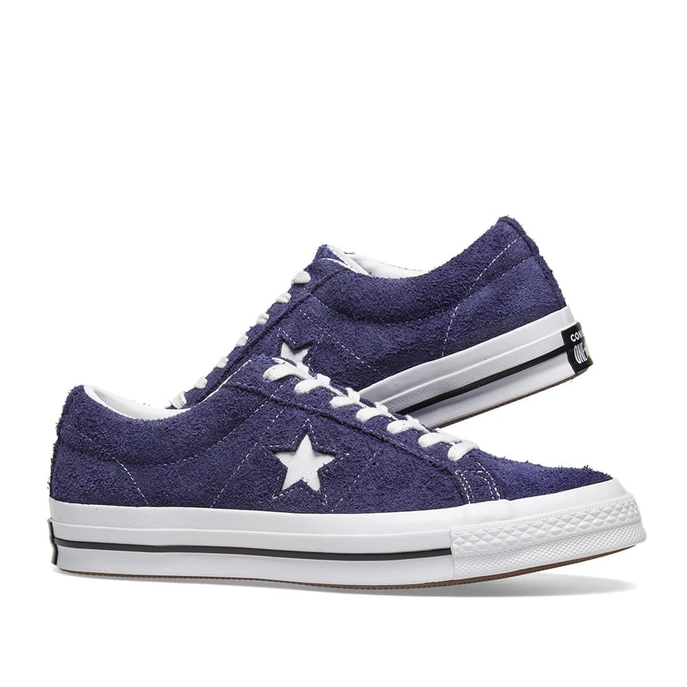 Converse One Star Ox Vintage Suede Eclipse & White | END.