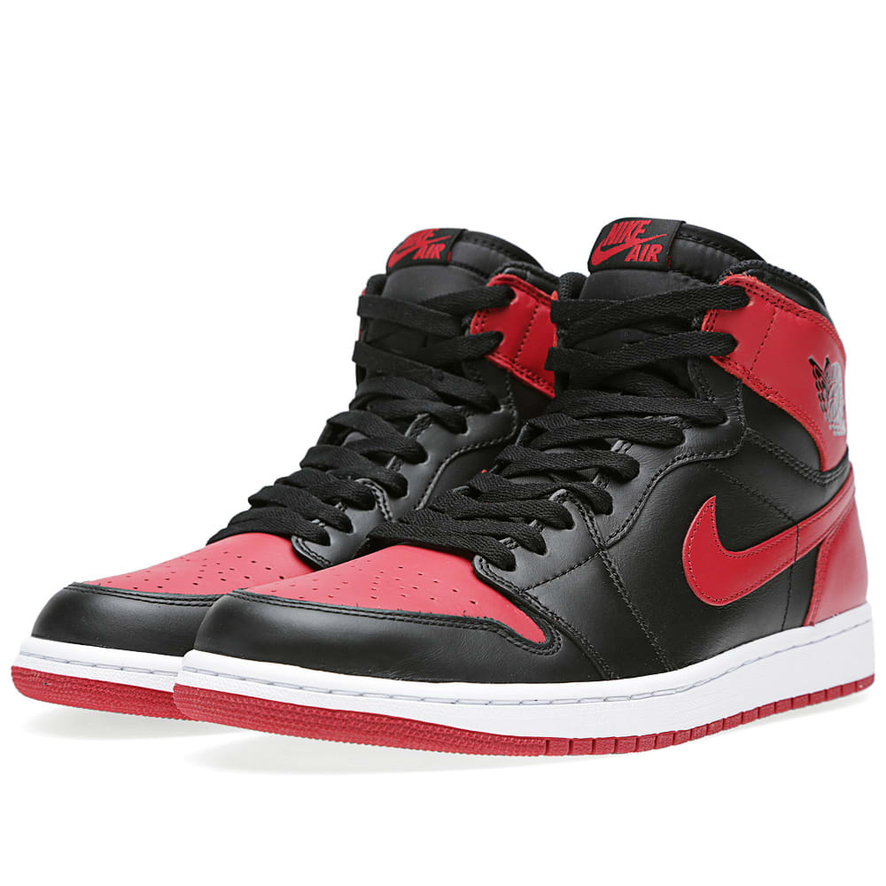 861dc14e9caa Nike Air Jordan 1 Retro High OG  Bred  Black   Varsity Red