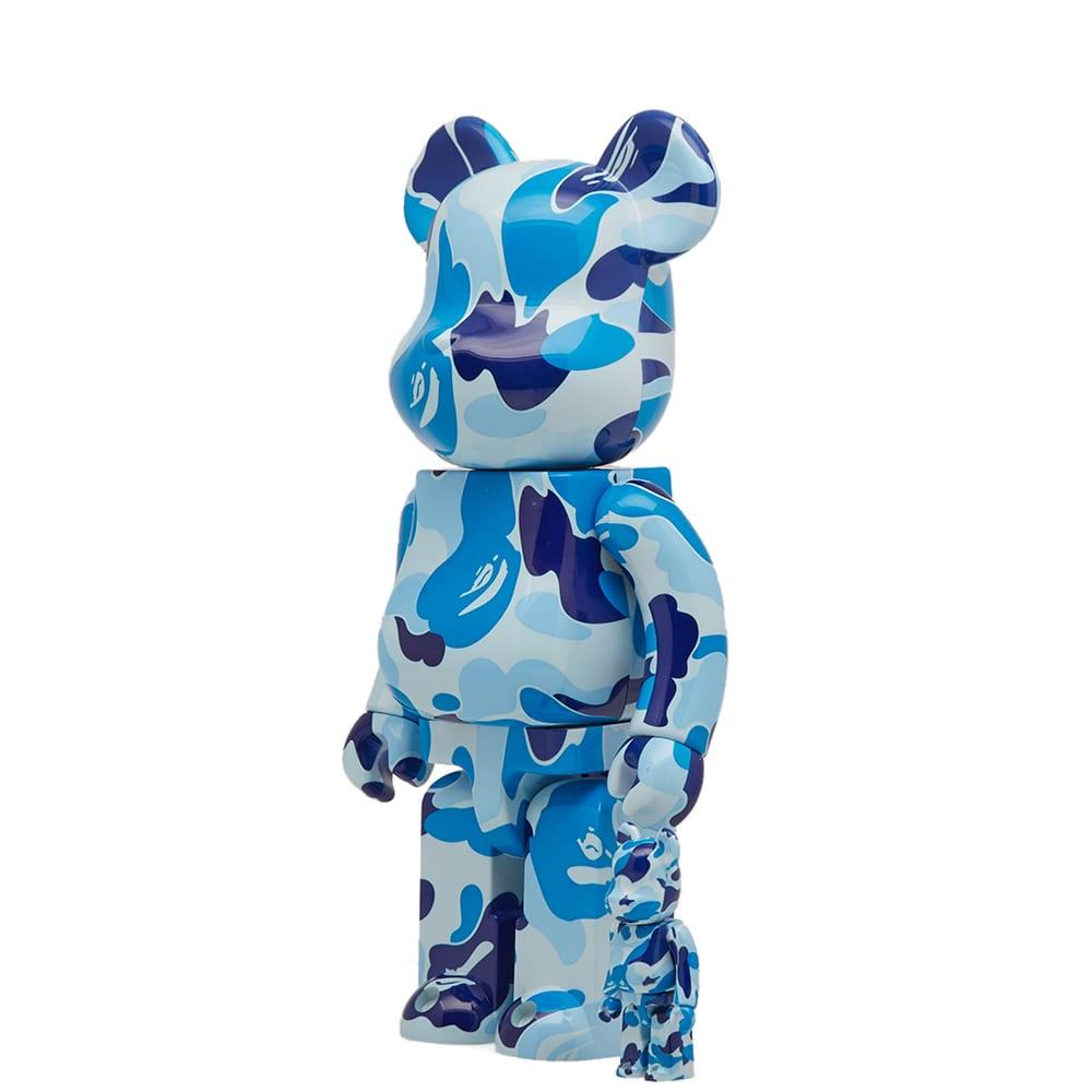 fa89aa29 A Bathing Ape x Medicom ABC Be@rbrick Blue 100% & 400% Set | END.
