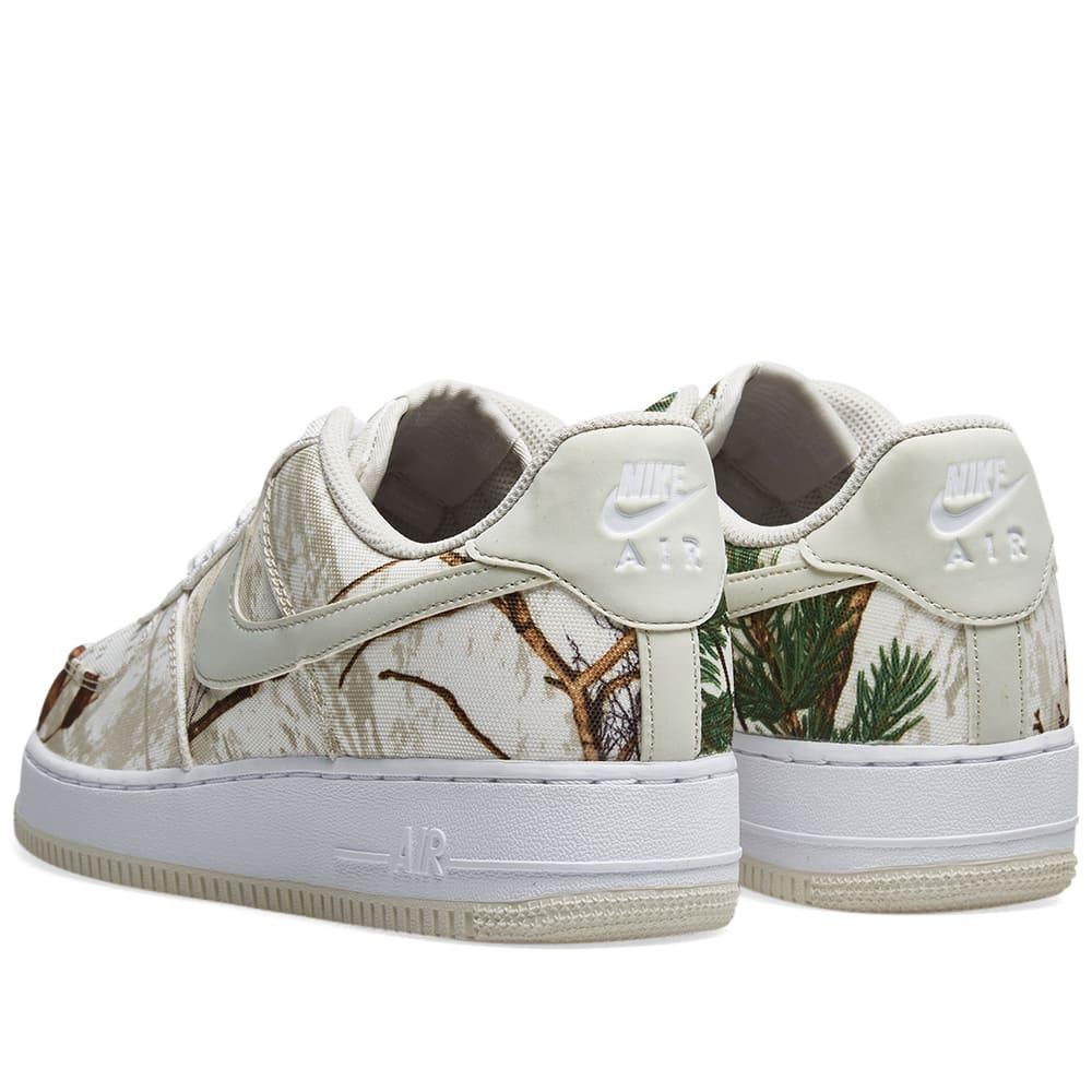 8a68276bde207 Nike Air Force 1 '07 LV8 3 'Realtree Camo' White & Bone | END.