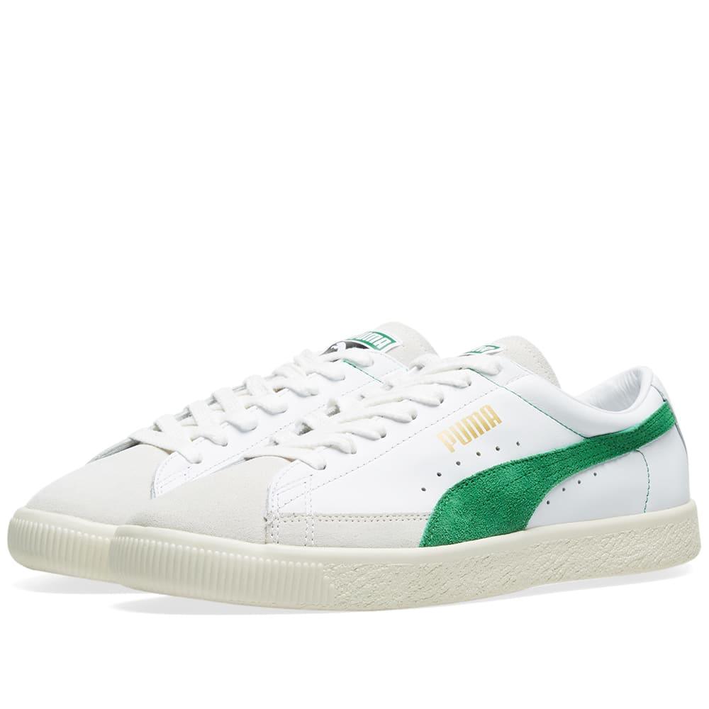 83893726313 Puma Basket 90680 OG White   Amazon Green