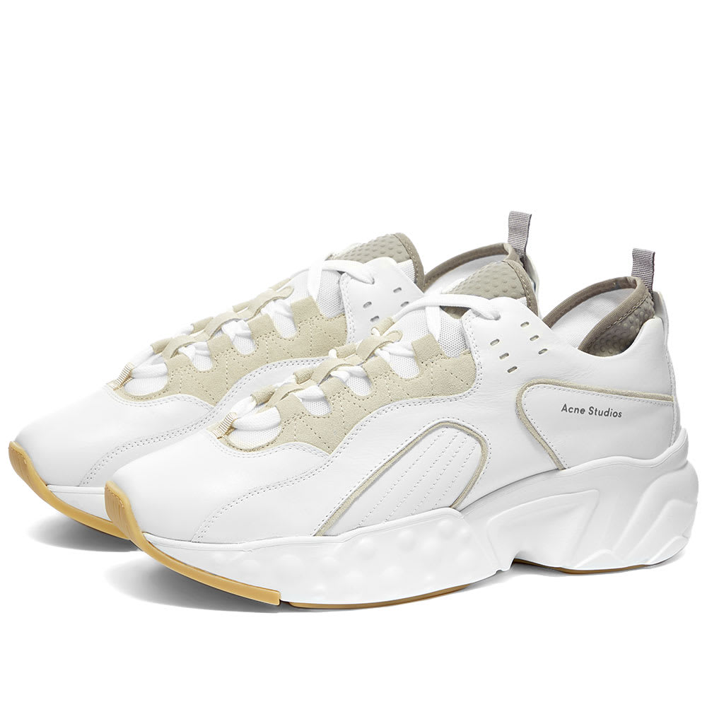 special for shoe reputable site best choice Acne Studios Rockaway Leather Oversize Sneaker White | END.