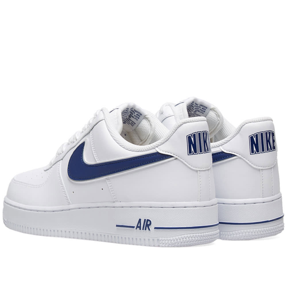 online retailer 7314b 5a91d Nike Air Force 1  07 3 White   Deep Royal   END.