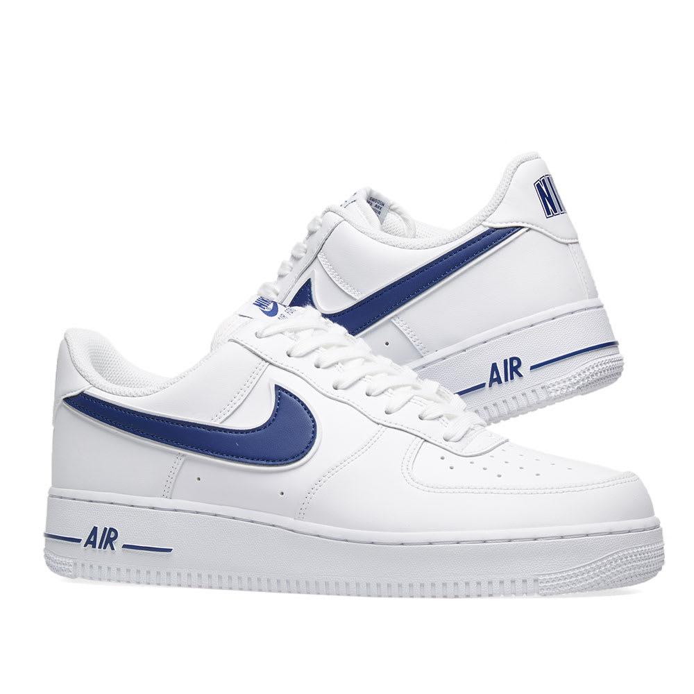 detailed look 789d0 0e954 Nike Air Force 1  07 3. White   Deep Royal