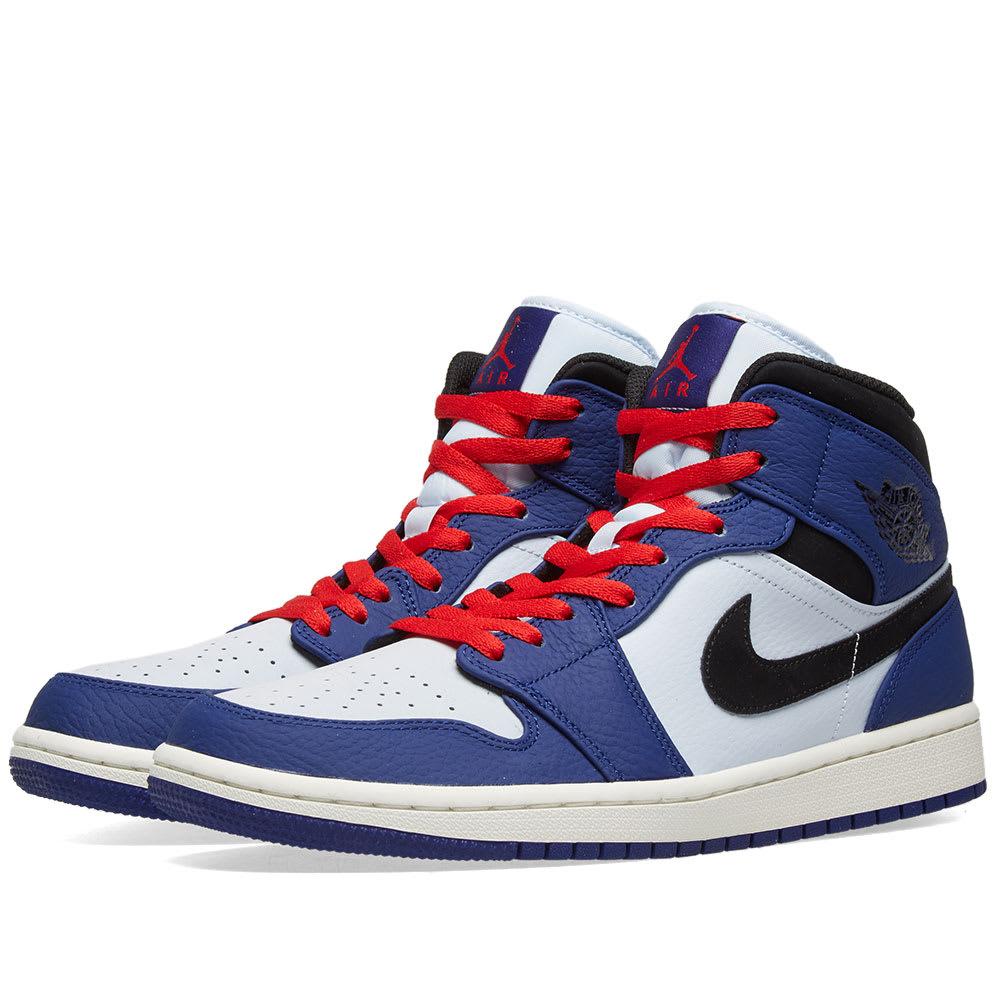 Nike Air Jordan 1 Mid SE (blue white) | 43einhalb Sneaker Store