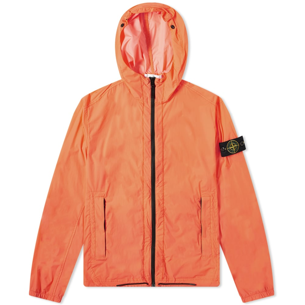 Stone Island Skin Touch Hooded Jacket Orange Red End
