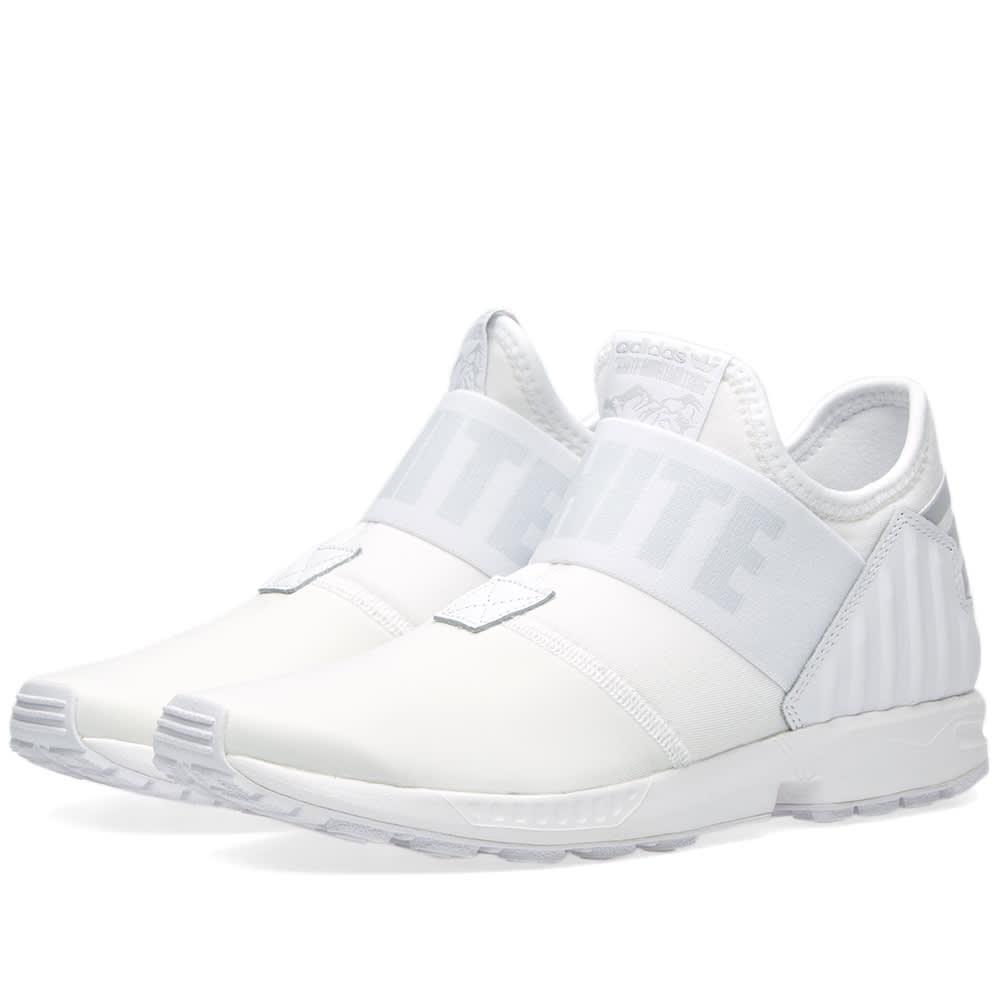 420dd989989f0 Adidas x White Mountaineering ZX Flux Plus White