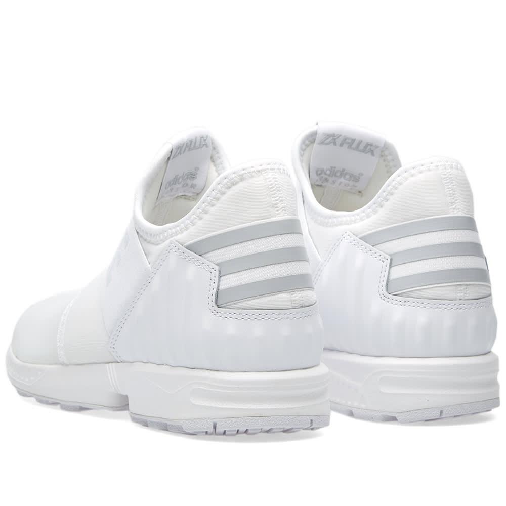 0b9e764b69575 Adidas x White Mountaineering ZX Flux Plus White