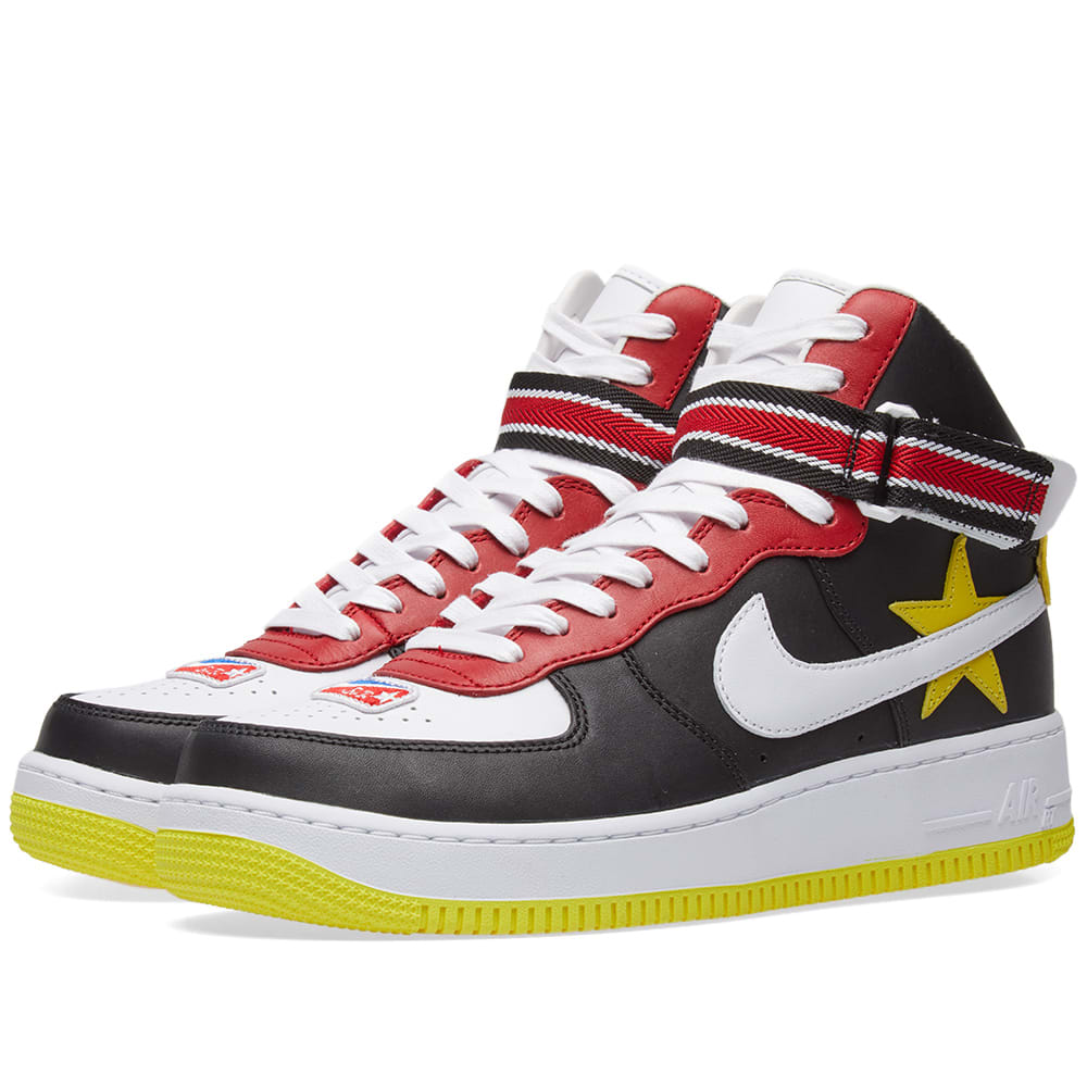 official photos 49459 198d7 Nike x Riccardo Tisci Air Force 1 High Gym Red, Yellow, Black   White   END.
