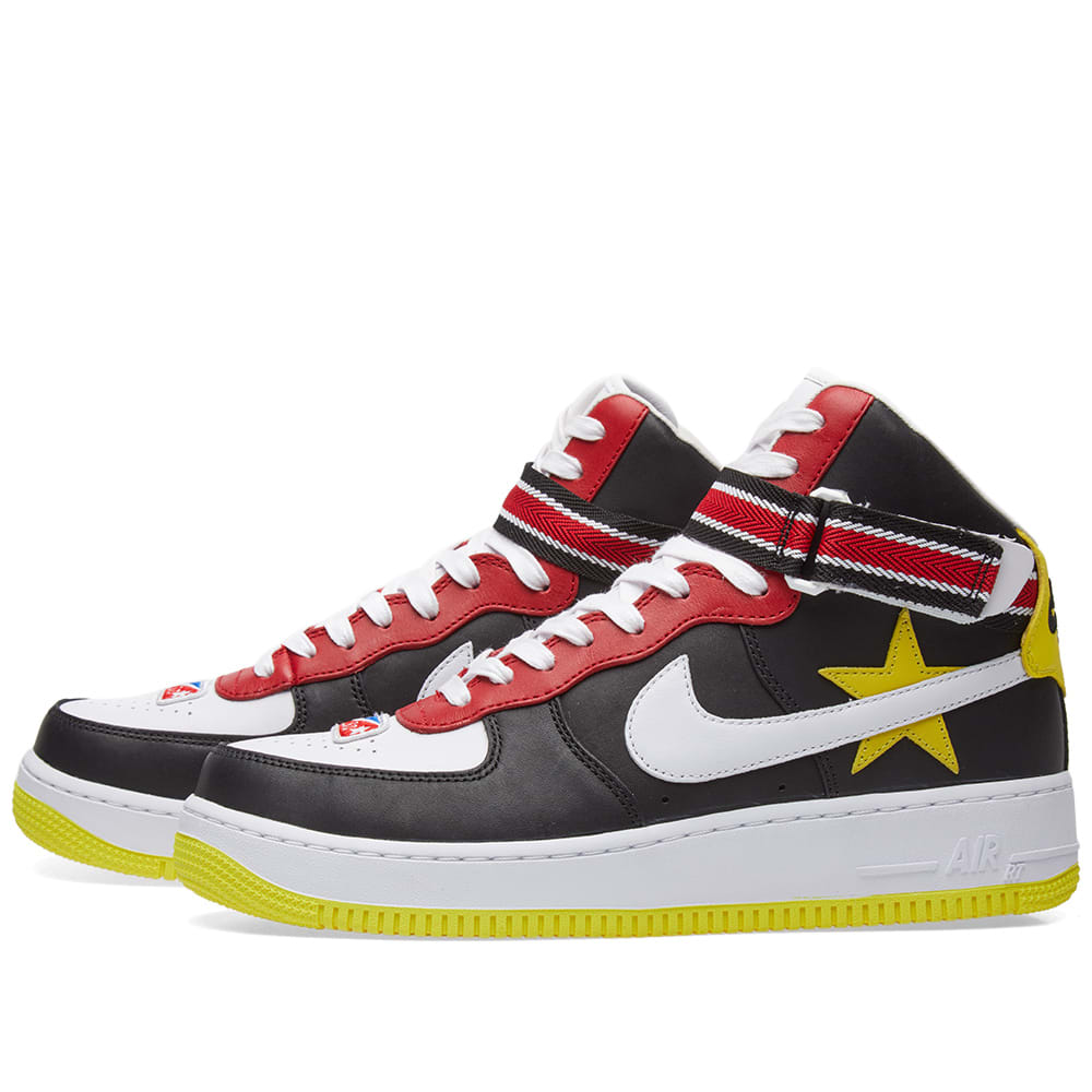 official photos 1f899 896e4 Nike x Riccardo Tisci Air Force 1 High Gym Red, Yellow, Black   White   END.