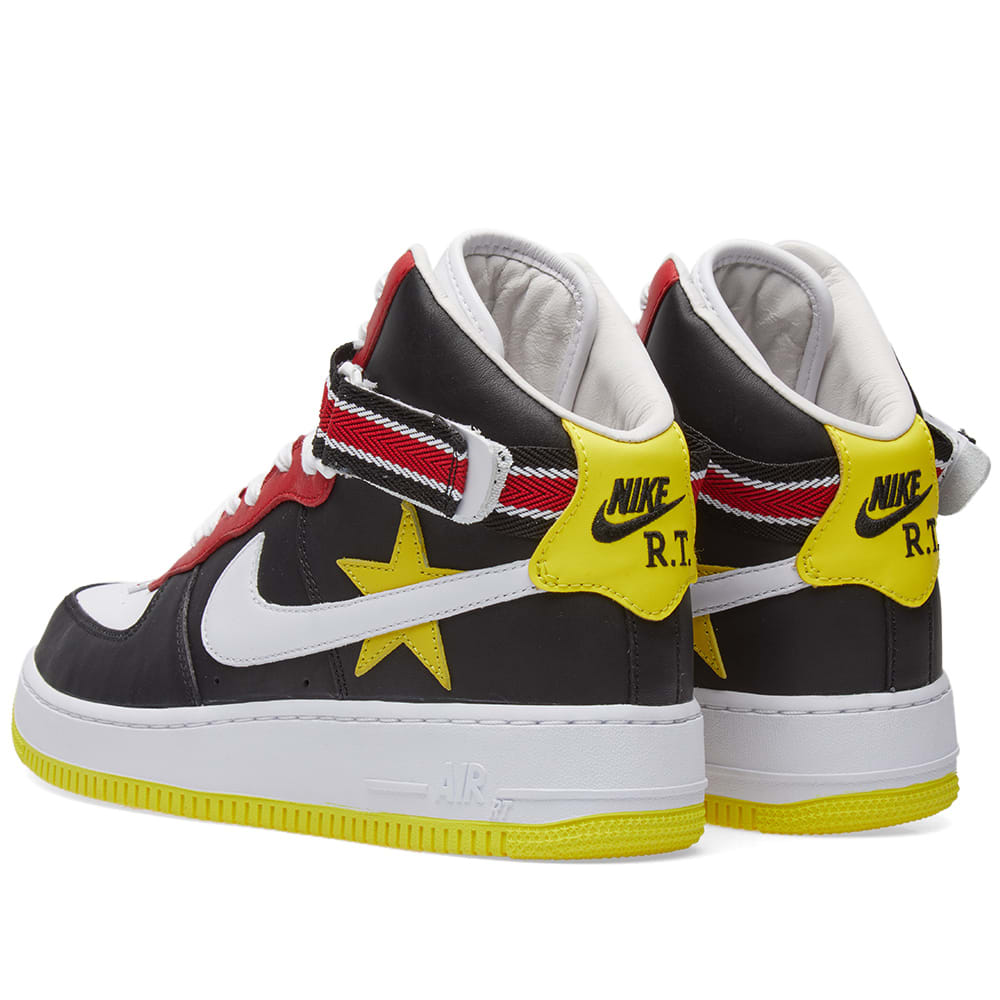 official photos 2ea8a 6d7ee Nike x Riccardo Tisci Air Force 1 High Gym Red, Yellow, Black   White   END.
