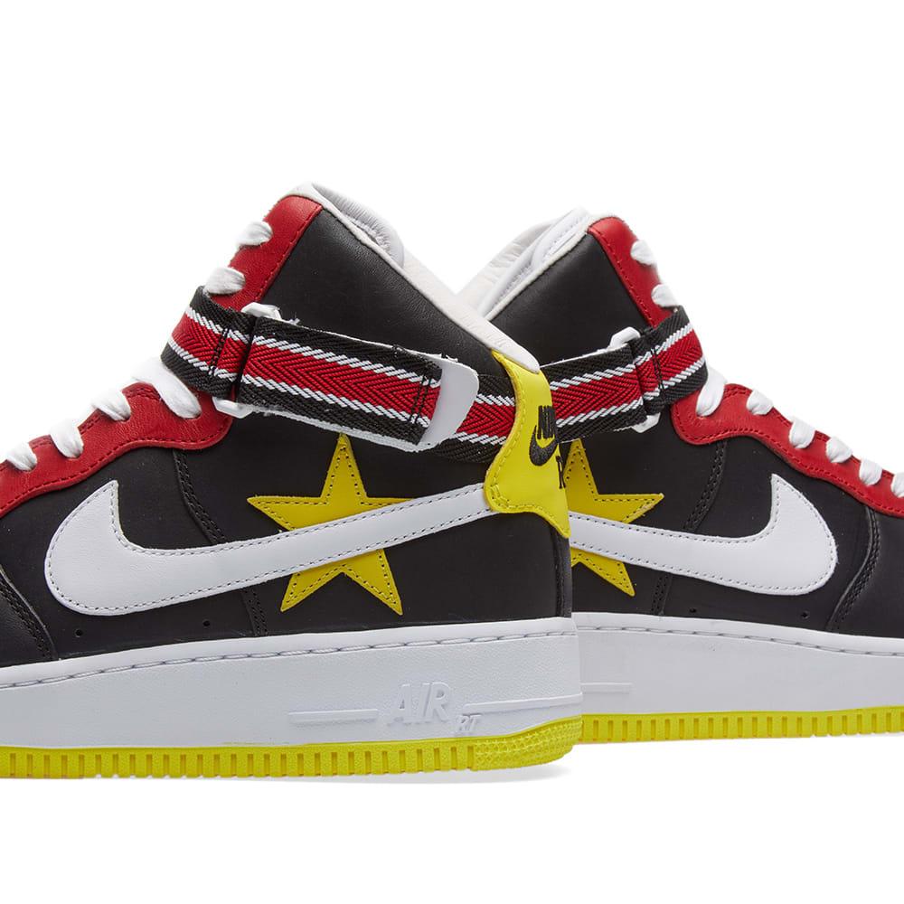 official photos f2d8e ffaac Nike x Riccardo Tisci Air Force 1 High Gym Red, Yellow, Black   White   END.