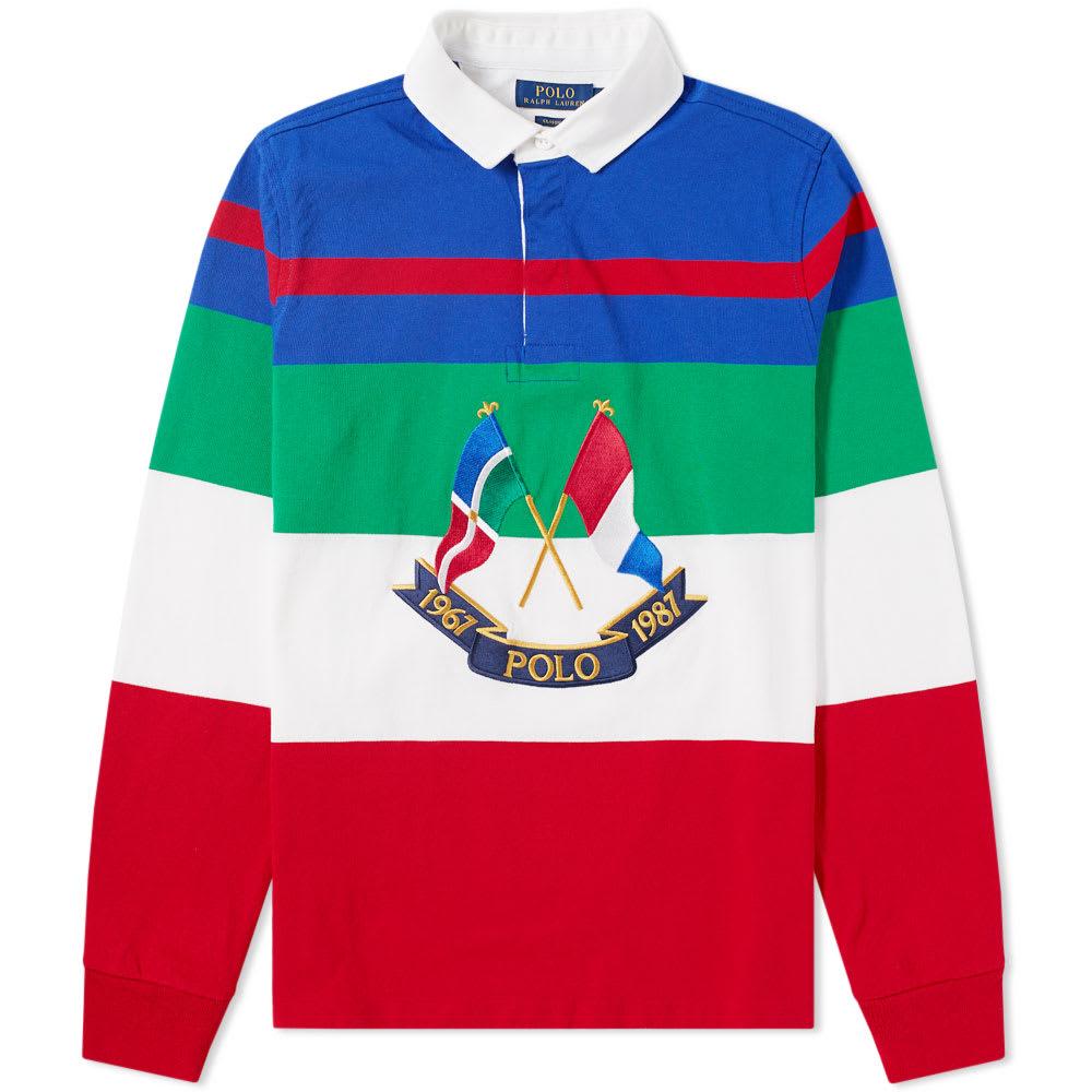 Cup Stripe Americas Flag Polo Lauren Rugby Shirt Ralph SMzVpU