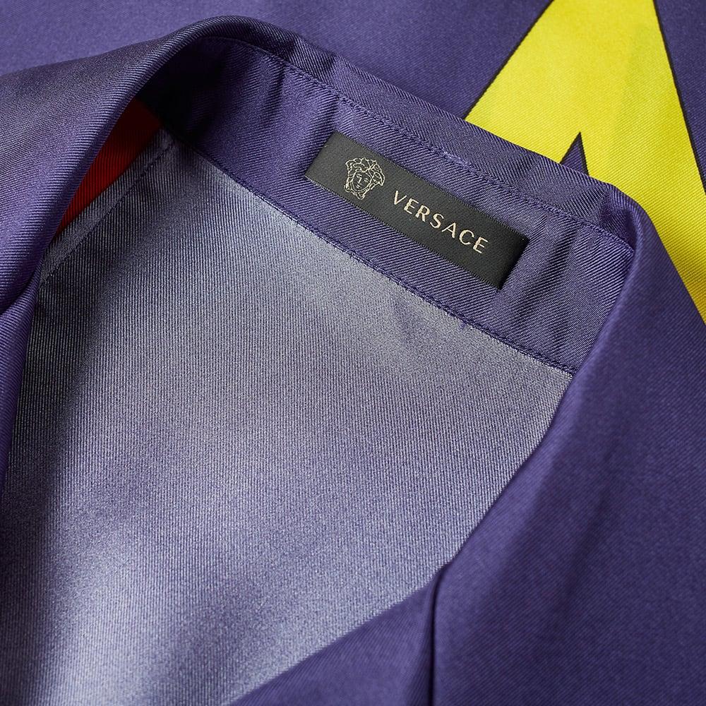 d21e2310e Versace Flag Print Vacation Shirt White & Blue | END.