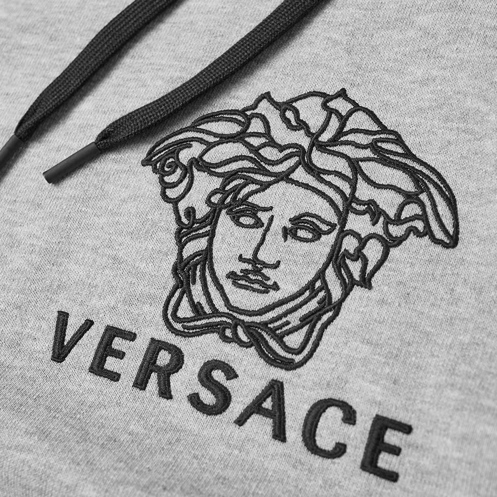 free shipping cca19 eea57 Versace Logo Embroidered Popover Hoody