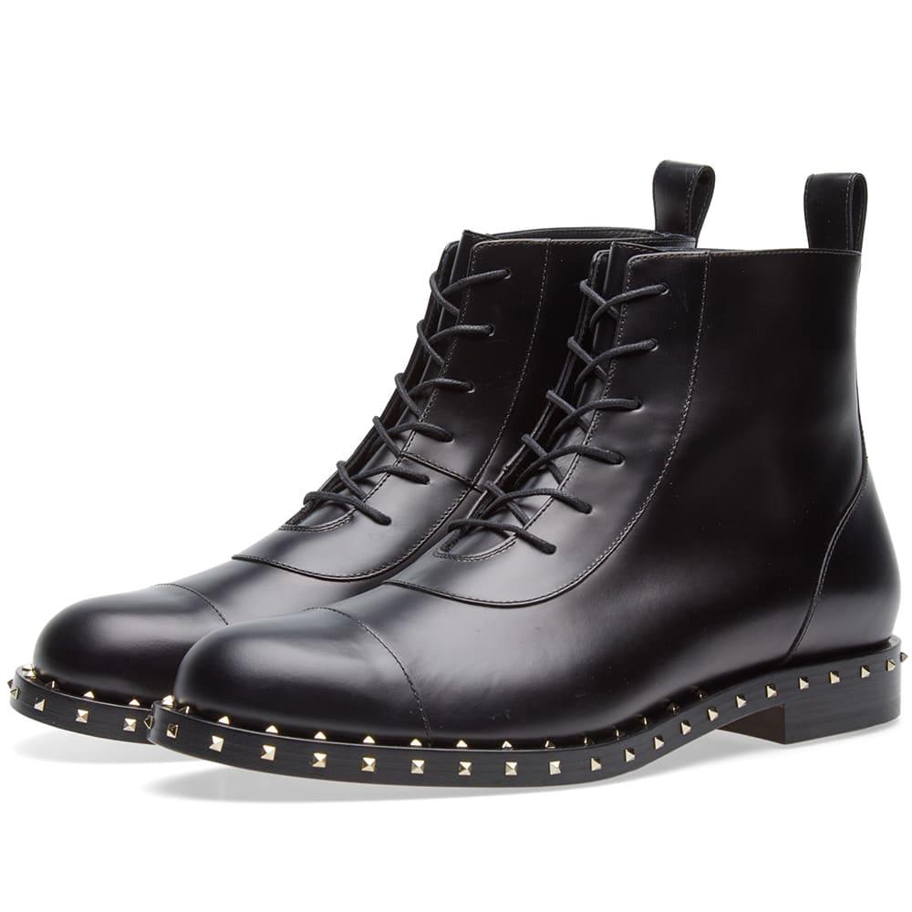 0032cdb7609 Valentino Soul Rockstud Combat Boot