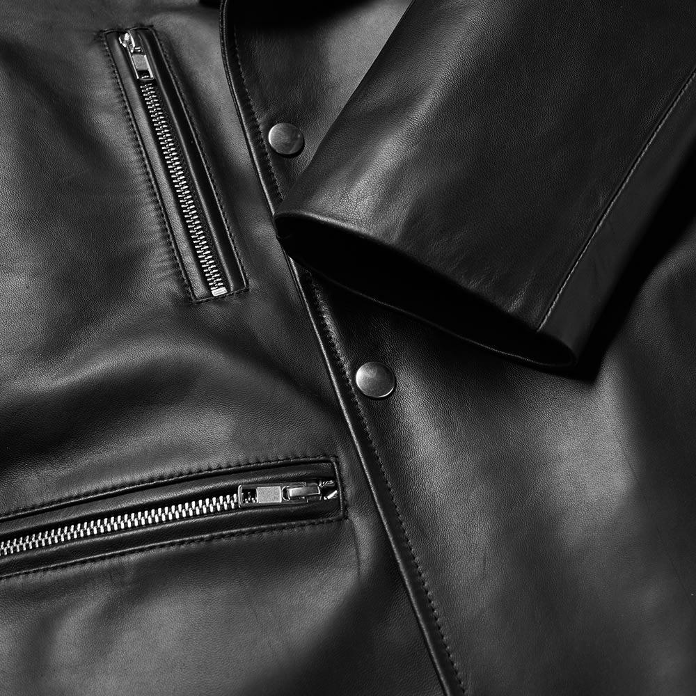 871927fe1954c McQ Alexander McQueen Leather Biker Jacket Darkest Black | END.