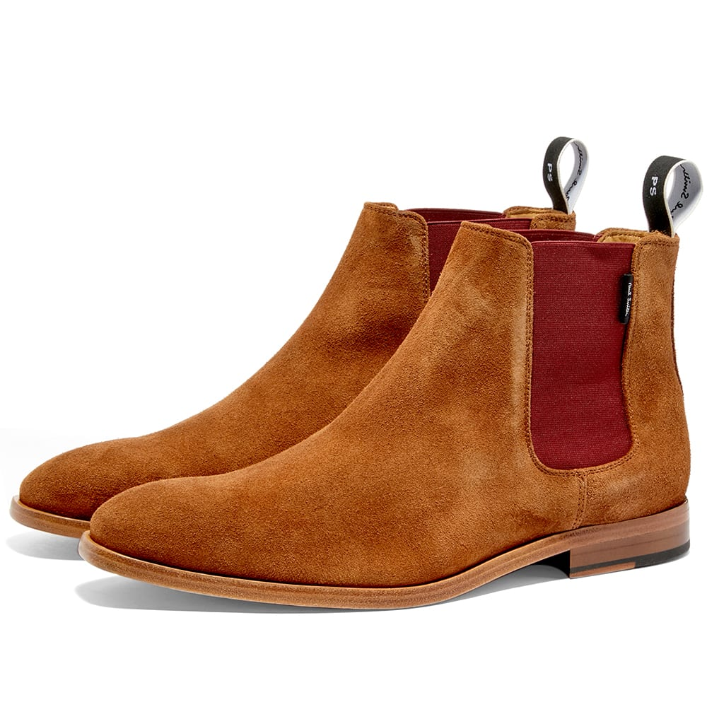 Paul Smith Gerald Chelsea Boot Tan Suede End