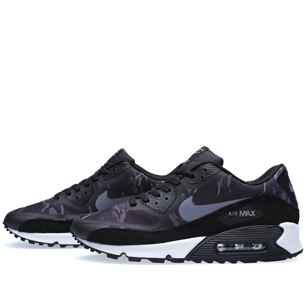 Details about Nike Air Max 90 Premium Tape Men's Shoes Black Cool Grey White 599249 001