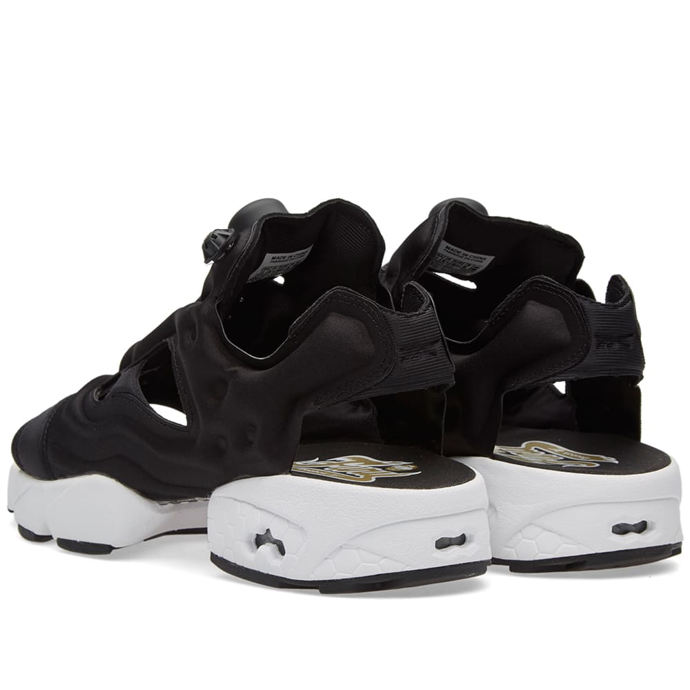 reputable site 3d3dc 8ecce Reebok Instapump Fury Sandal Black, White   Gold Metallic   END.