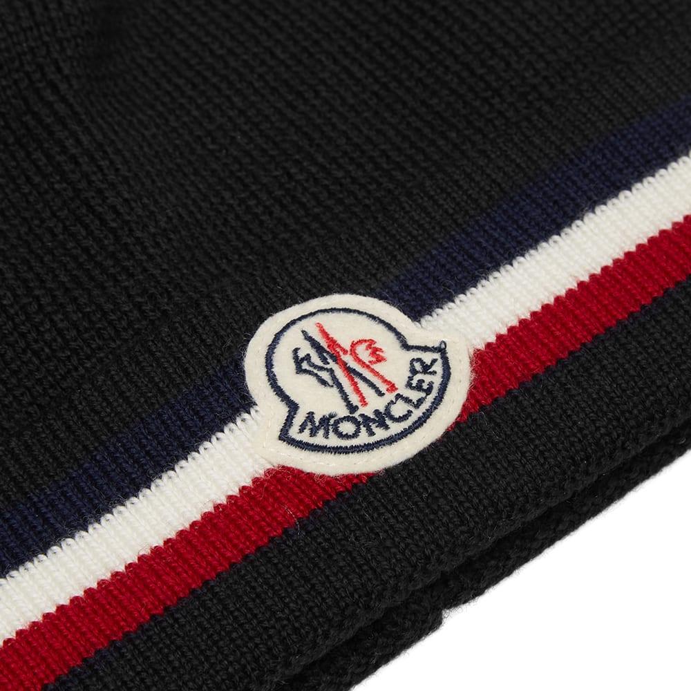 4da18847065 Moncler Berretto Tricolour Stripe Beanie Black