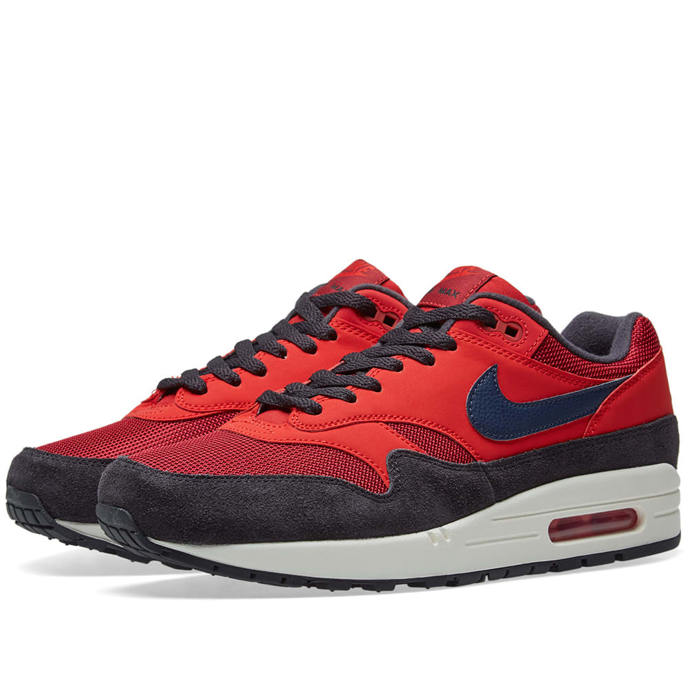 best service 72fed d409d Nike Air Max 1 Red, Navy, Grey & Sail | END.