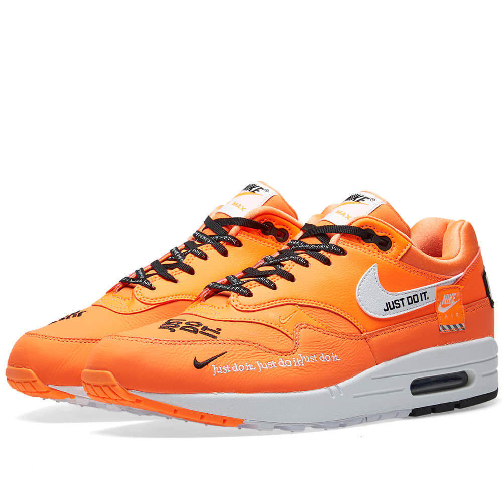 separation shoes 9de88 822b6 Nike Air Max 1 Lux W Orange, White   Black   END.