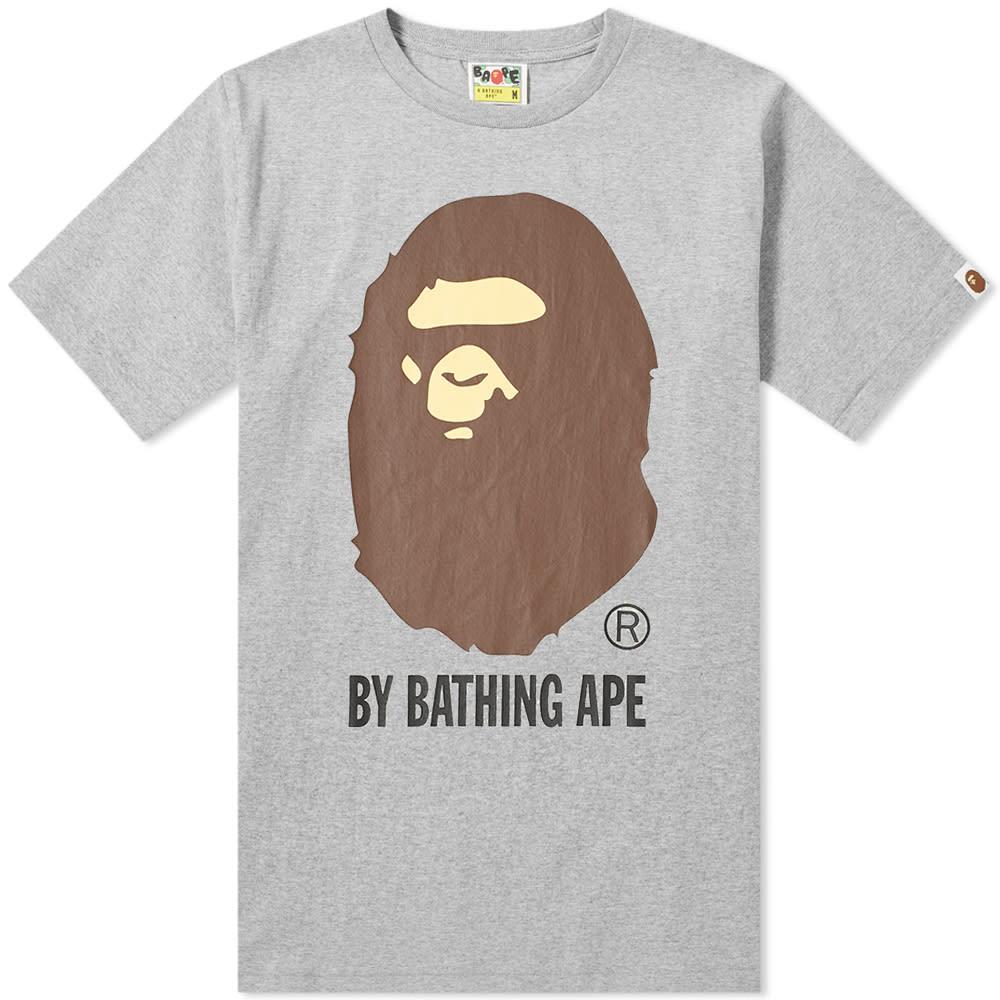 A Bathing Ape By Bathing Tee In Grey