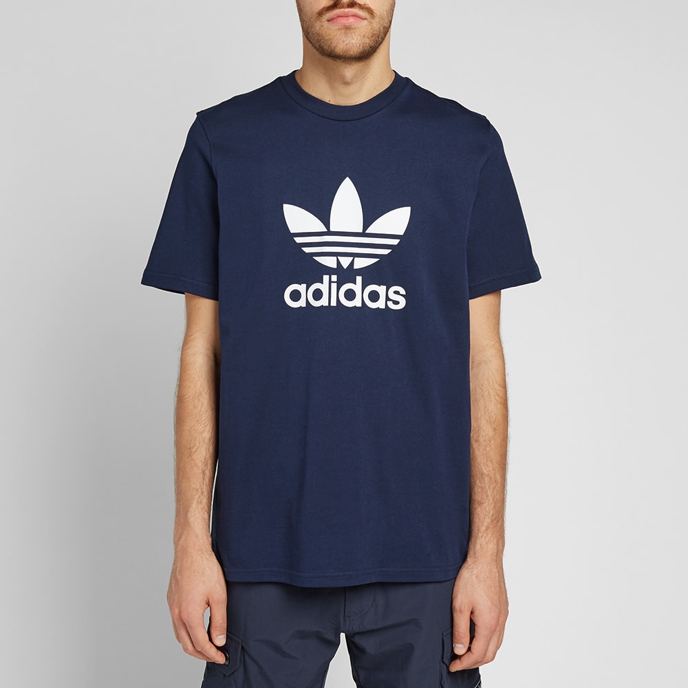 new collection official store classic fit Adidas Trefoil Tee Collegiate Navy | END.