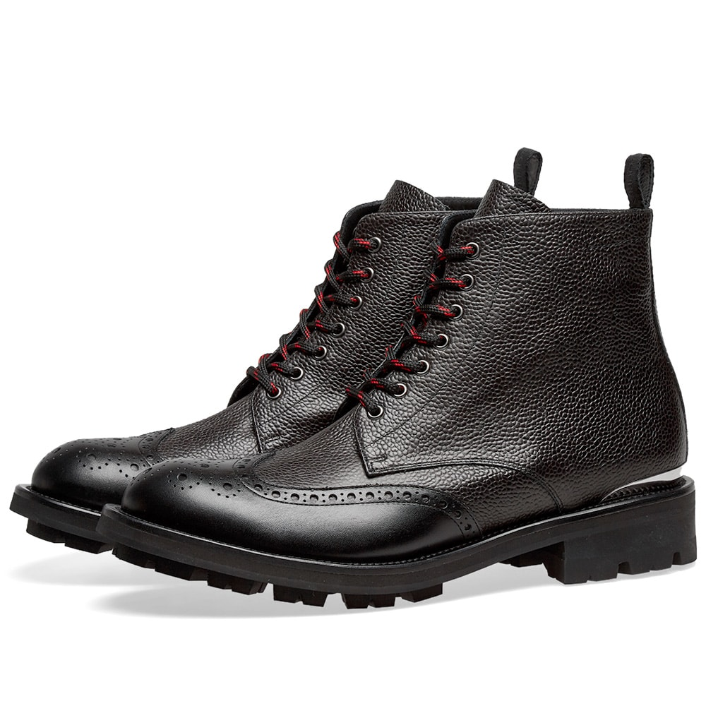 Alexander Mc Queen Pebble Grain Commando Sole Boot by Alexander Mc Queen