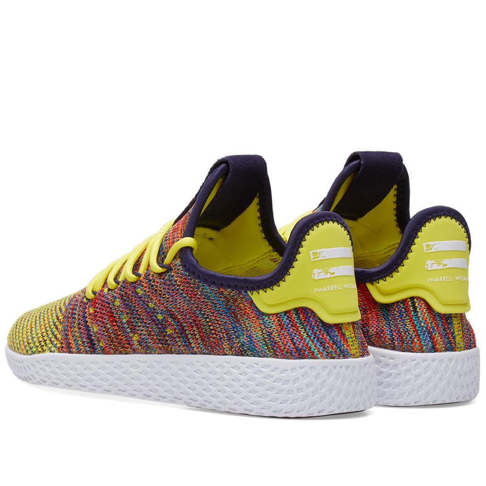 64b5a82a1 Adidas x Pharrell Williams Tennis Hu Noble Ink   Semi Frozen Yellow ...
