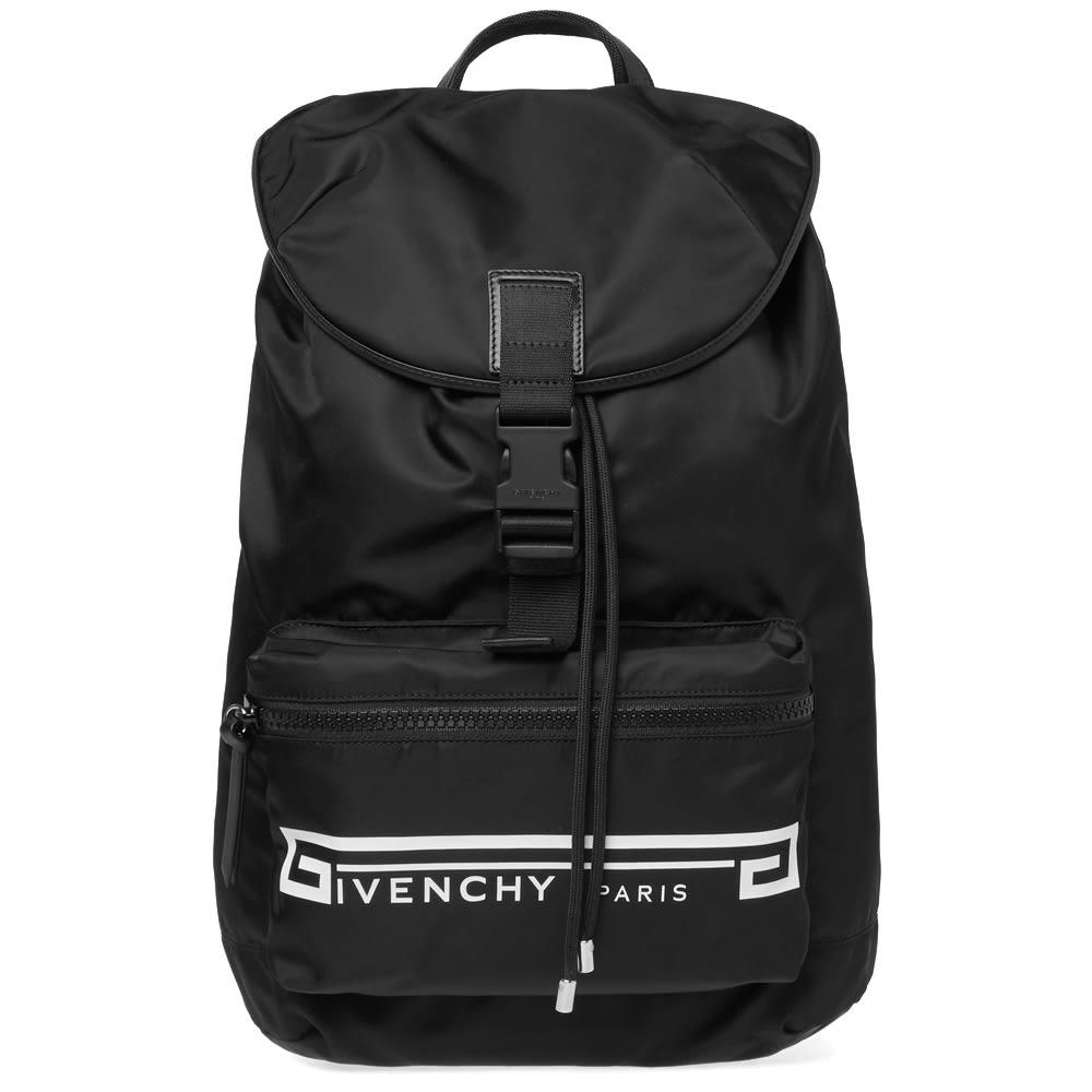 GIVENCHY Flame Strap Logo Backpack - Black, Black Multi