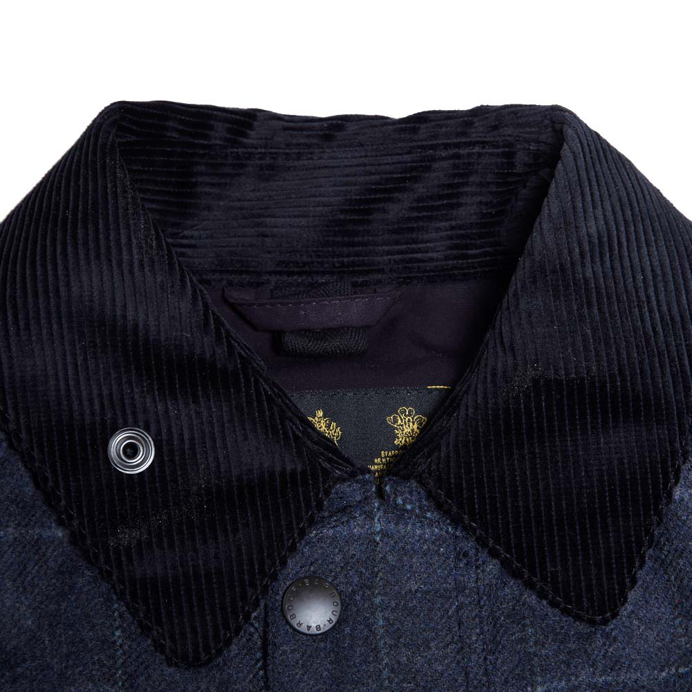 handla bästsäljare obesegrad x bra ut x Barbour Japanese SL Bedale Wool Jacket Navy Windowpane   END.