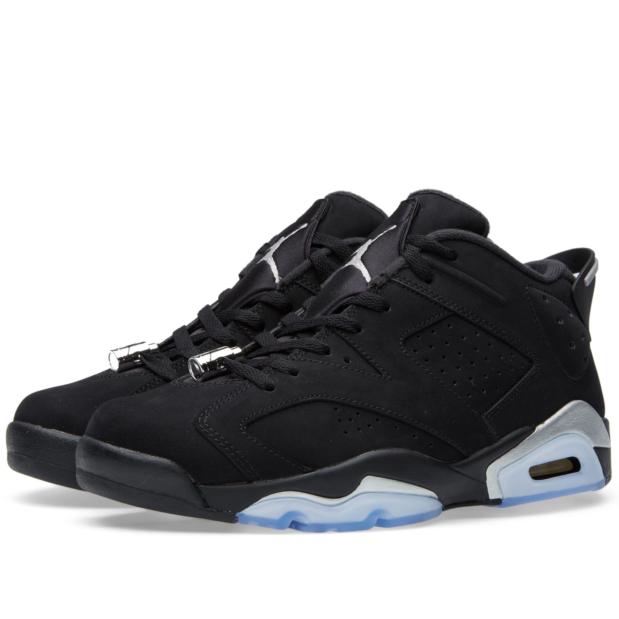 80184fa0265855 Nike Air Jordan 6 Retro Low Black