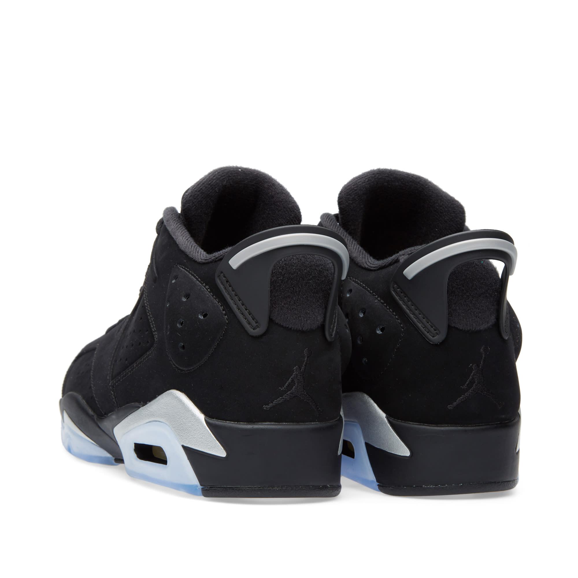 size 40 793fc 449f1 Nike Air Jordan 6 Retro Low GS Black, Metallic Silver   White   END.