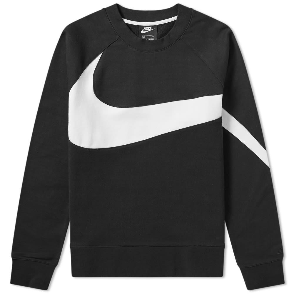 ee201590820288 Nike Big Swoosh Crew Sweat Black   White