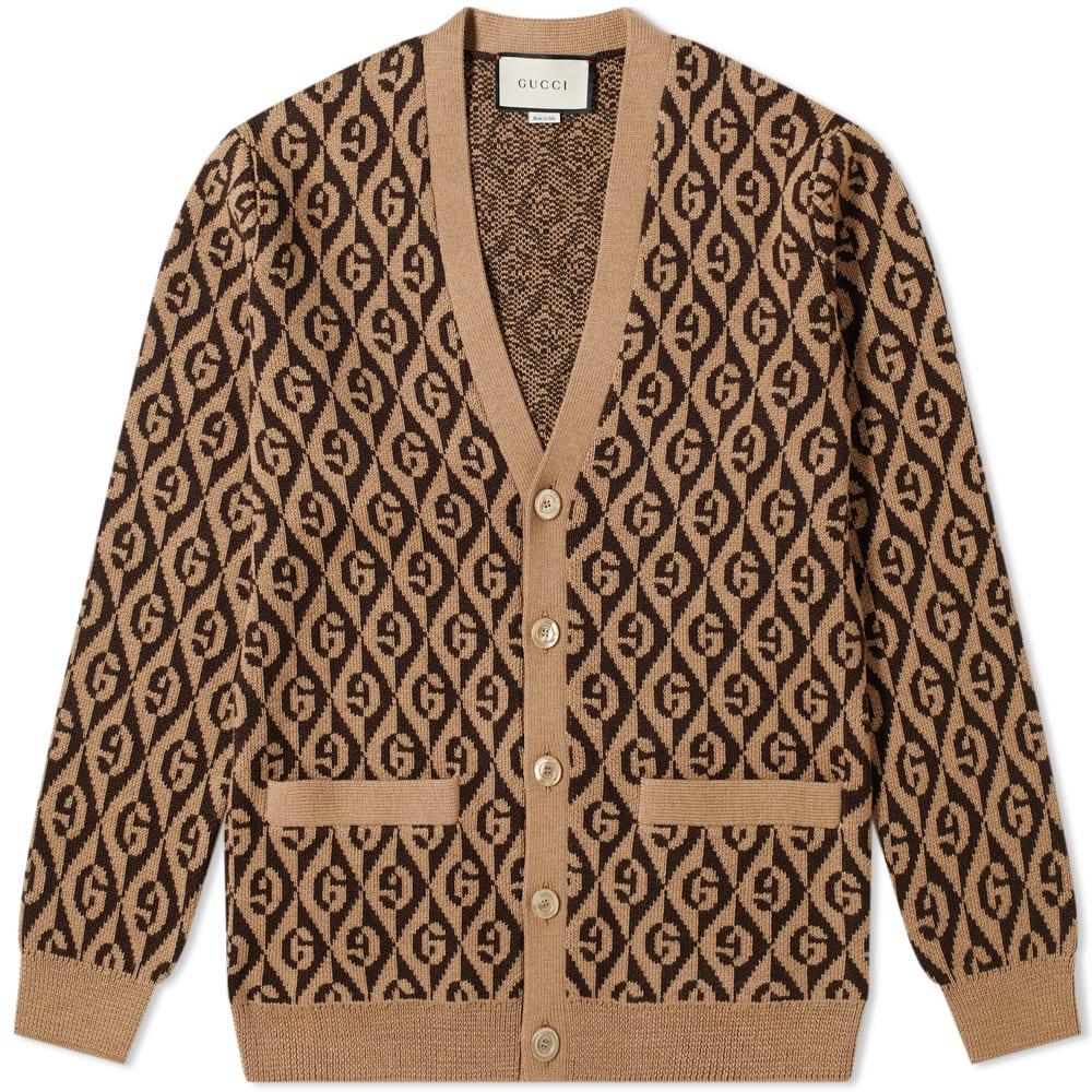 Gucci Rhombus Jacquard Knit Cardigan