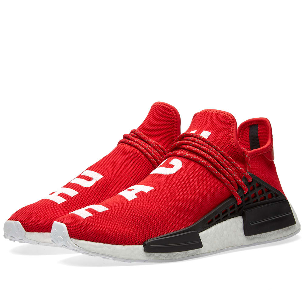 026496b97df29 Adidas x Pharrell Williams Hu Human Race NMD Scarlet   White