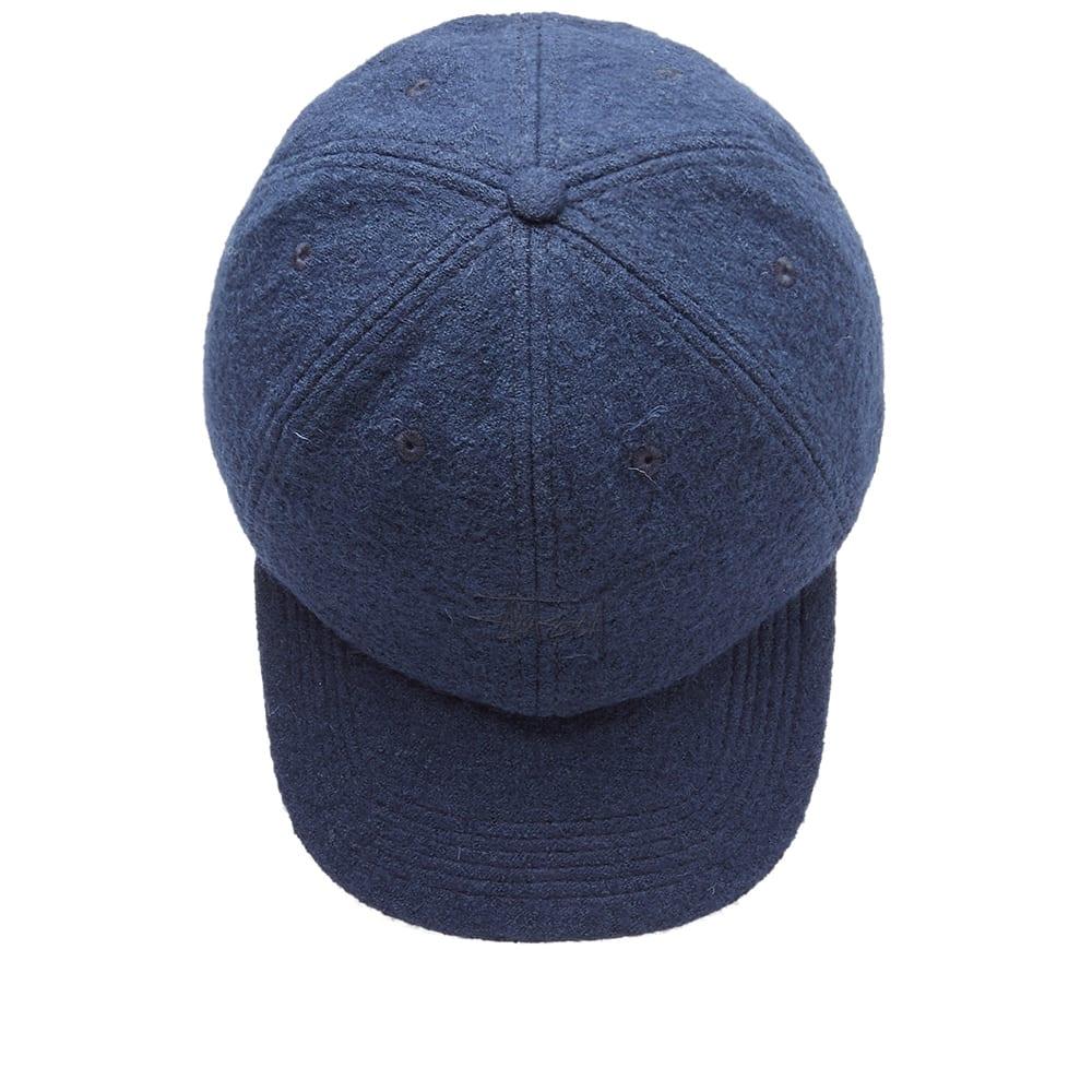 9cdf07401a3 Stussy Boiled Wool Stock Logo Cap Navy