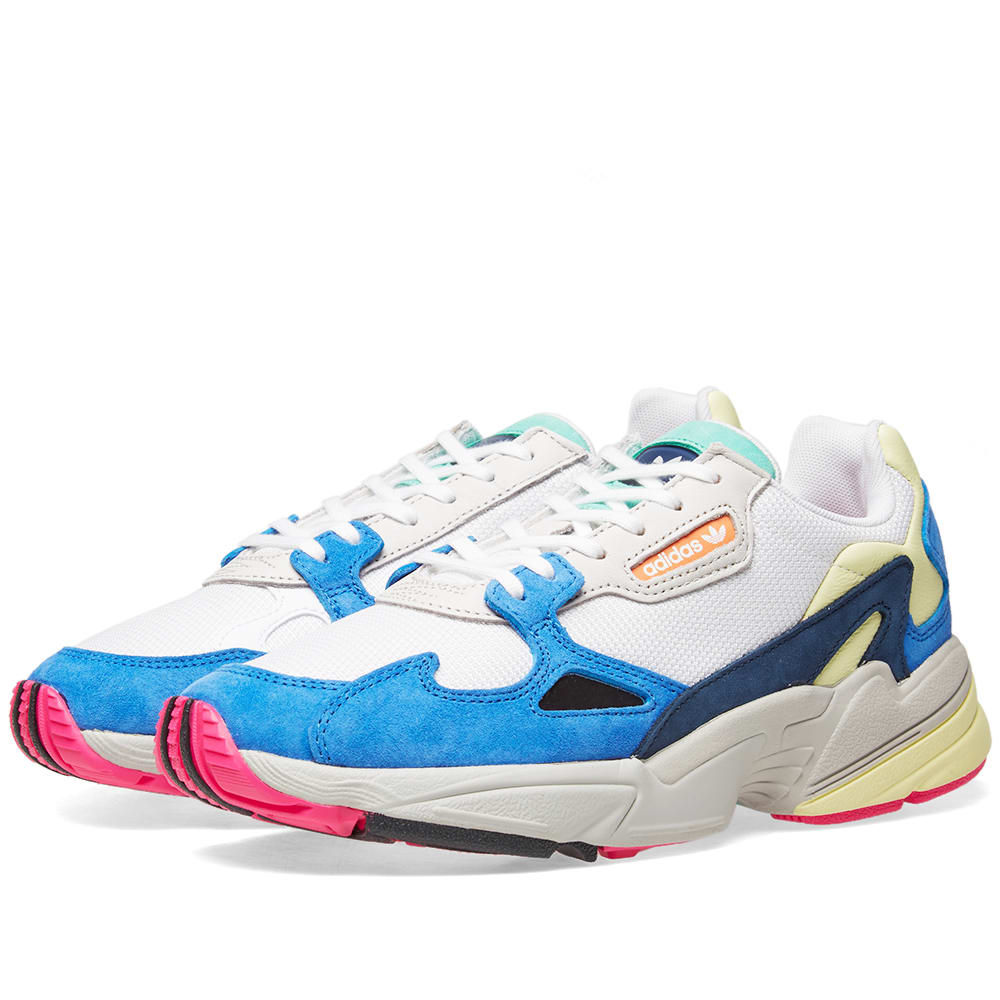 finest selection 108b8 cd79e Adidas Falcon W White   Blue   END.