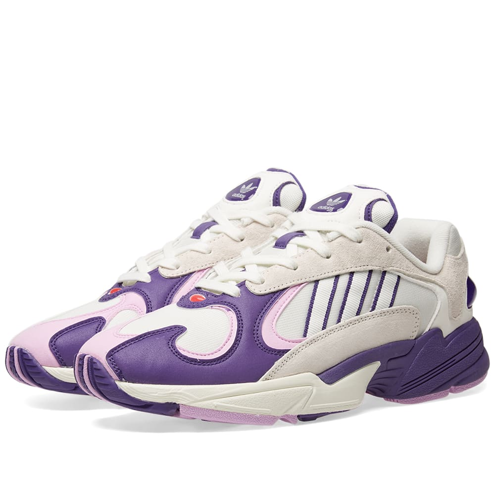 Favor oriental Moviente  Adidas x Dragonball Yung 1 'Frieza' Cloud White, Purple & Lilac | END.