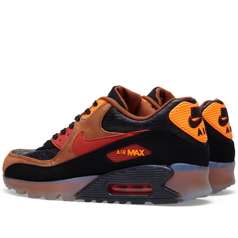 buy online a1116 04cd7 Nike Air Max 90 Ice Halloween QS Black, Team Red   Cognac   END.